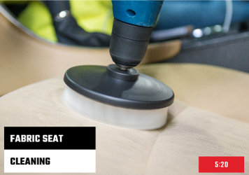 How To Clean Fabric Seats With Drill Brush