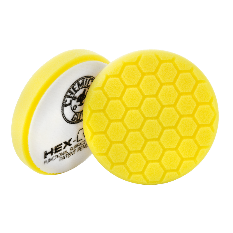 Yellow Hex-Logic Heavy Car Detailing Cutting Pad, 6 Inch - Chemical Guys