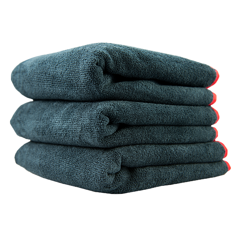 Premium Red Line Microfiber Towel 3 Pack