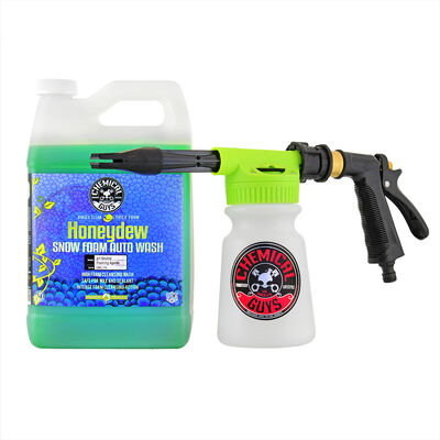 Foam Blaster 6 Wash Gun & Honeydew Snow Foam Gallon