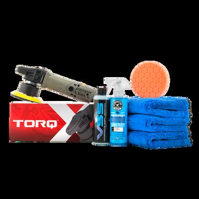 TORQX Random Orbital Polisher One-Step Scratch and Swirl Remover Kit (7 Items)