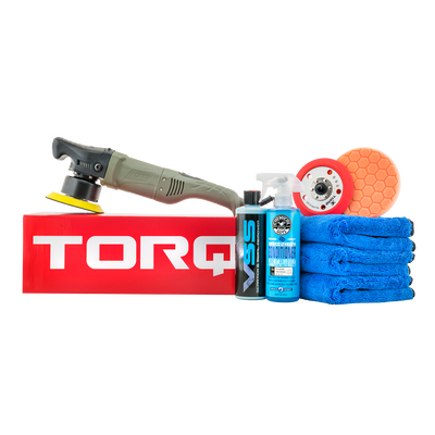 TORQ10FX Random Orbital Polisher Kit One-Step Scratch and Swirl Remover Kit (8 Items)