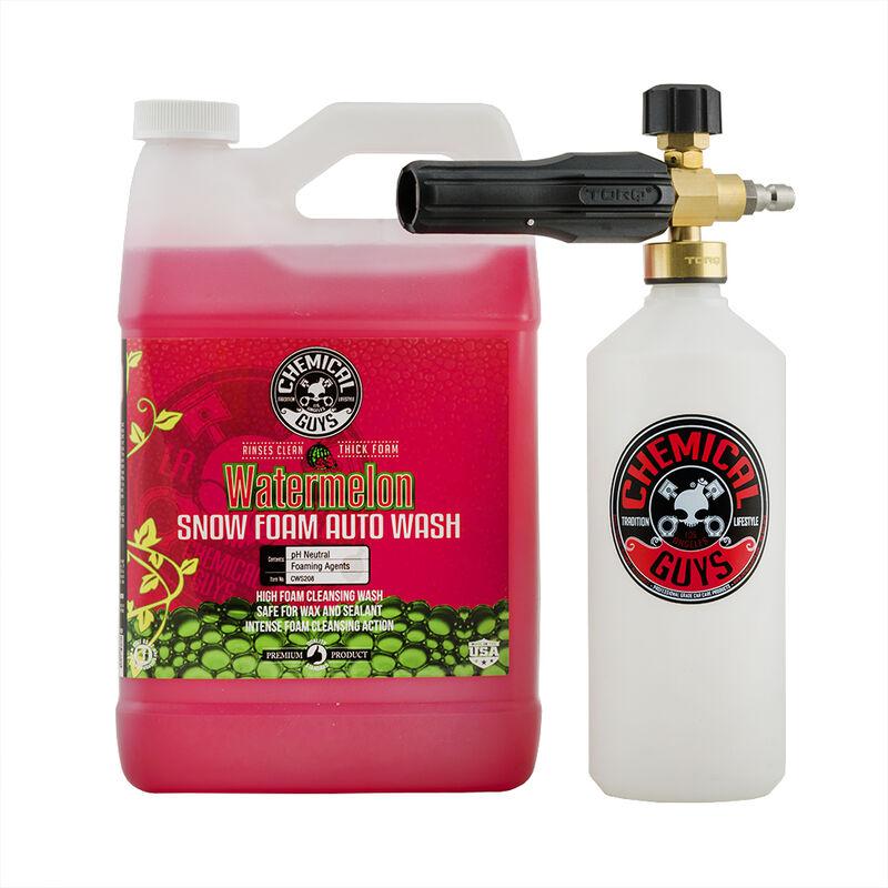 TORQ Foam Cannon Snow Foamer & Watermelon Snow Foam Auto Wash (1 Gal) Kit