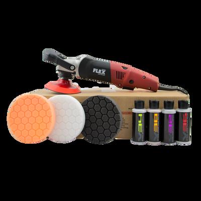 Flex L 3403 VRG Lightweight Circular Rotary Polisher Kit (9 Items)