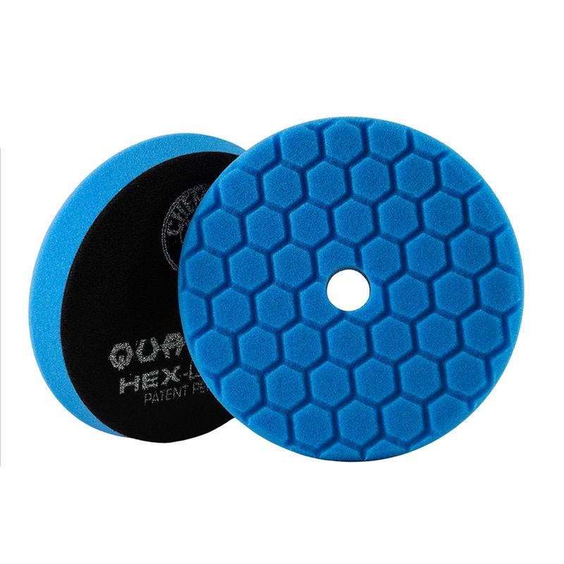 Blue Hex-Logic Quantum Car Polishing/Finishing Pad, 6 Inch - Chemical Guys