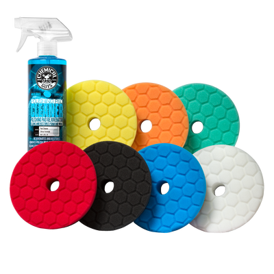 """Hex-Logic Quantum 6.5"""" Best Of The Best Bufing Pads Kit (8 Items)"""