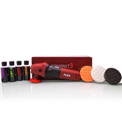 Flex PE8 Kompakt Rotary Polisher Kit (9 Items)