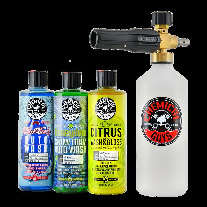TORQ Foam Cannon Snow Foamer & 3 Premium Soaps Kit
