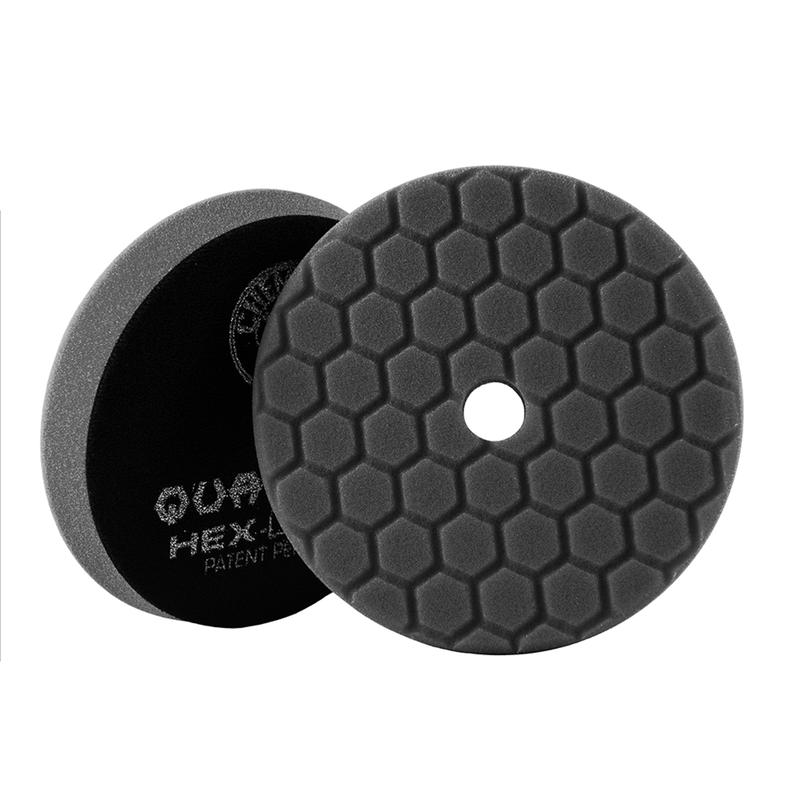Black Hex-Logic Quantum Car Finishing Pad, 6 Inch - Chemical Guys