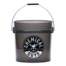Heavy Duty Ultra Clear Detailing Bucket, 4.5 Gal, Smoked Obsidian Black