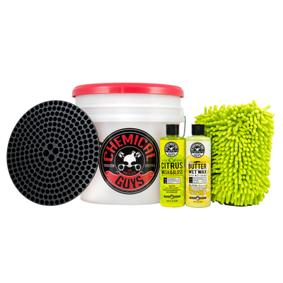 Wash and Wax Detailing Bucket Kit (6 Items)
