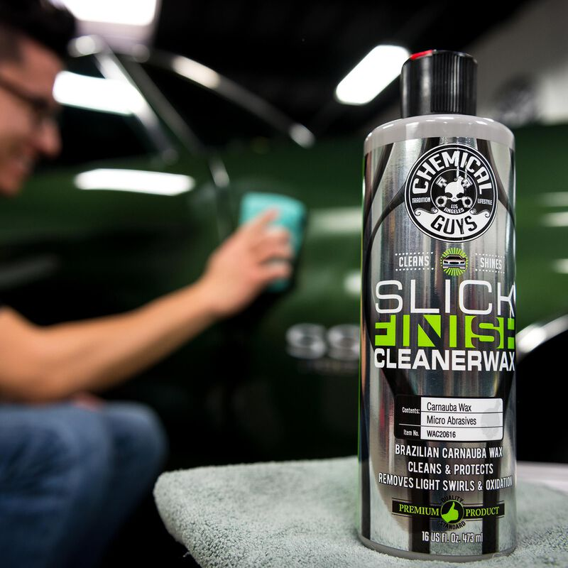 Slick Finish Cleaner Wax Light Paint Cleanser & Brilliant Shine Carnauba Wax