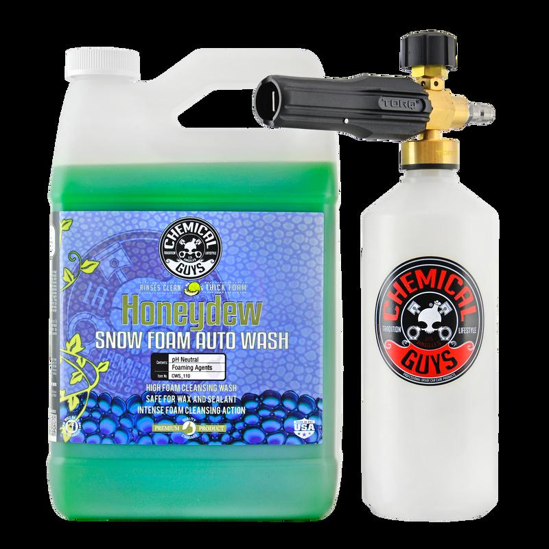 TORQ Foam Cannon Snow Foamer & Honeydew Gallon Soap
