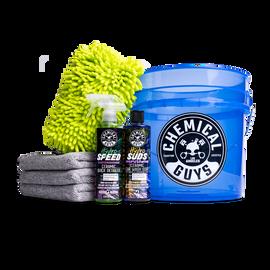 Blazing Transparent Blue Bucket Ceramic Starter Kit