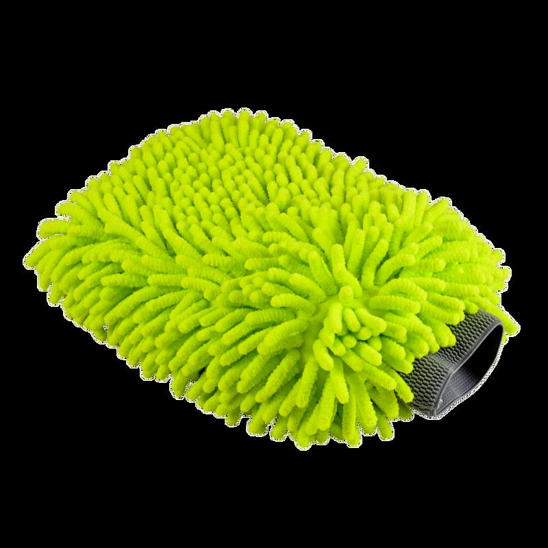 Chenille Premium Scratch-Free Microfiber Wash Mitt Green