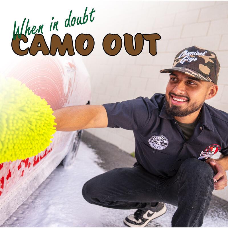 Snap-It-Back Camo Script Hat