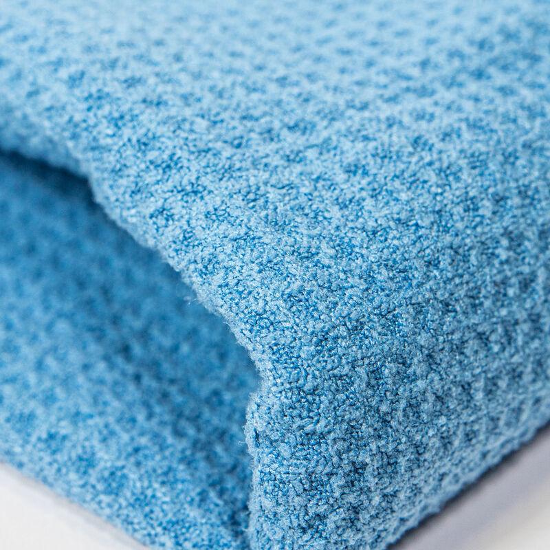 "Waffle Weave Glass and Window Microfiber Towel, Light Blue 27"" x 16"""
