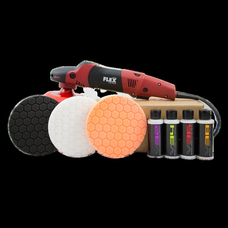 FLEX PE 14-2 Rotary Polisher Kit (9 Items)