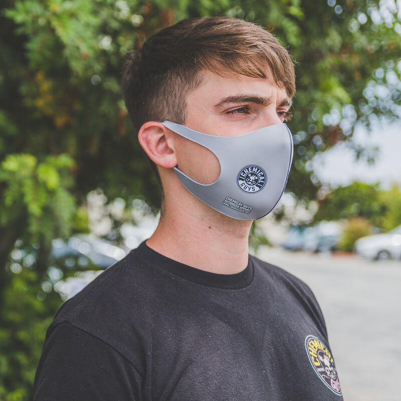 Chemical Guys Gray Cloth Non-Medical Face Mask