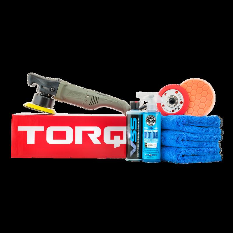 TORQ10FX Random Orbital Polisher Kit One-Step Scratch and Swirl Remover Kit (8 Items)