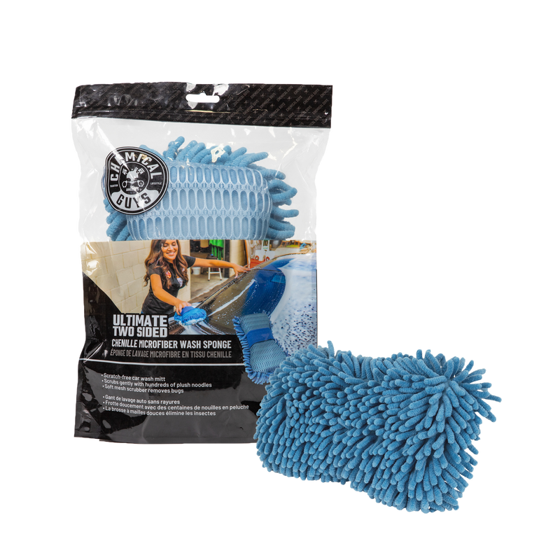 Ultimate Two Sided Chenille Microfiber Wash Sponge, Blue