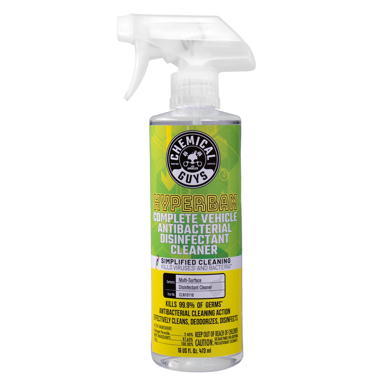 HyperBan Complete Vehicle Antibacterial Disinfectant Cleaner (16 oz)
