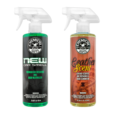New Car Scent & Leather Scent Combo Pack