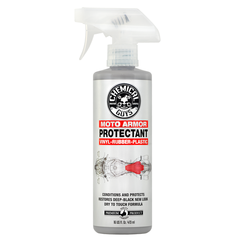 Moto Armor Vinyl, Rubber & Plastic Protectant For Motorcycles - Chemical Guys