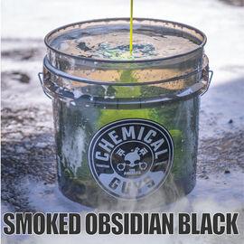 Heavy Duty Ultra Clear Detailing Bucket, 4.5 Gal, Smoked Obsidian Black