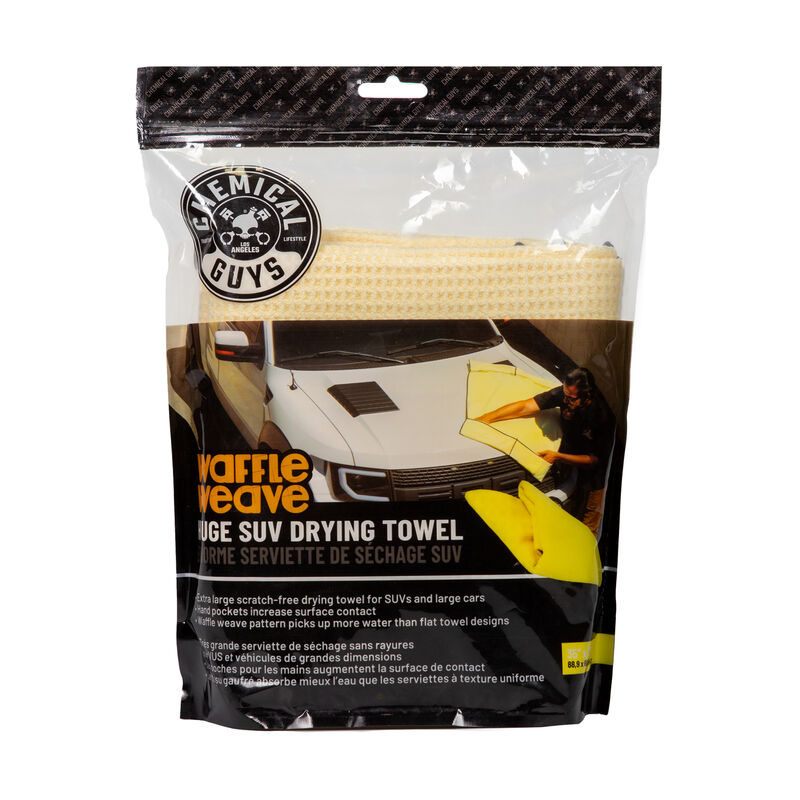 "Waffle Weave SUV Microfiber Drying Towel, 35"" x 26"""