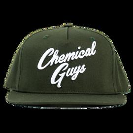 Snap-It-Back Olive Green Script Hat