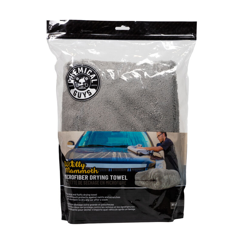 "Woolly Mammoth Microfiber Dryer Towel, 36"" x 25"""
