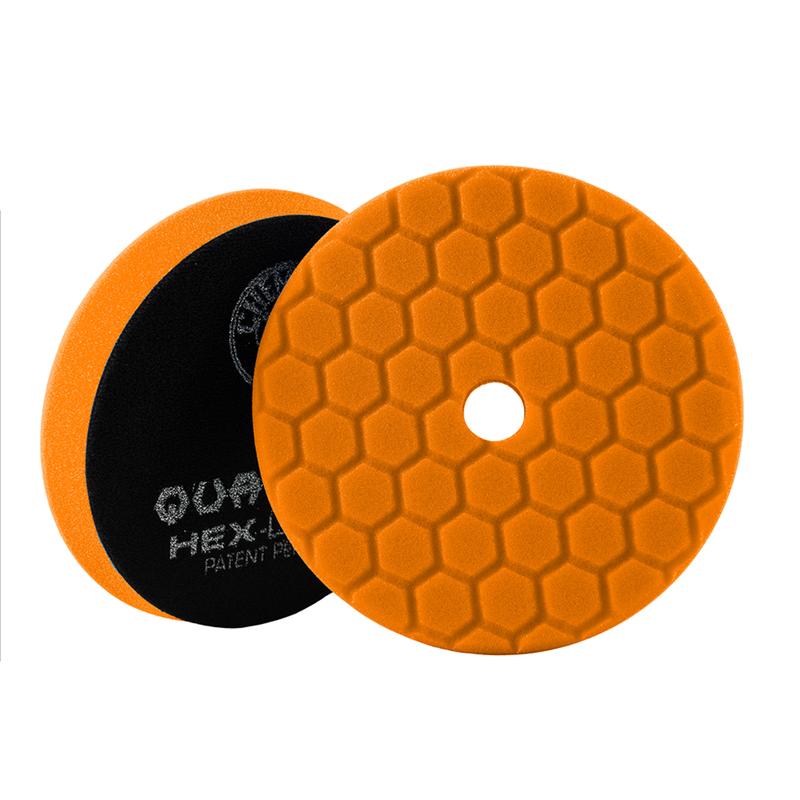 Orange Hex-Logic Quantum Medium-Heavy Car Detailing Cutting Pad, 6 Inch - Chemical Guys