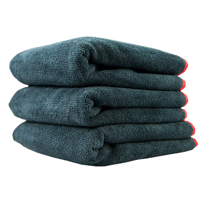 Premium Red Line Microfiber Towel 3 Pack