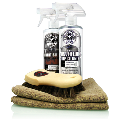 Ultimate Convertible Top Care Kit - Convertible Top Cleaner, Protectant, and Accessories (6 Items)
