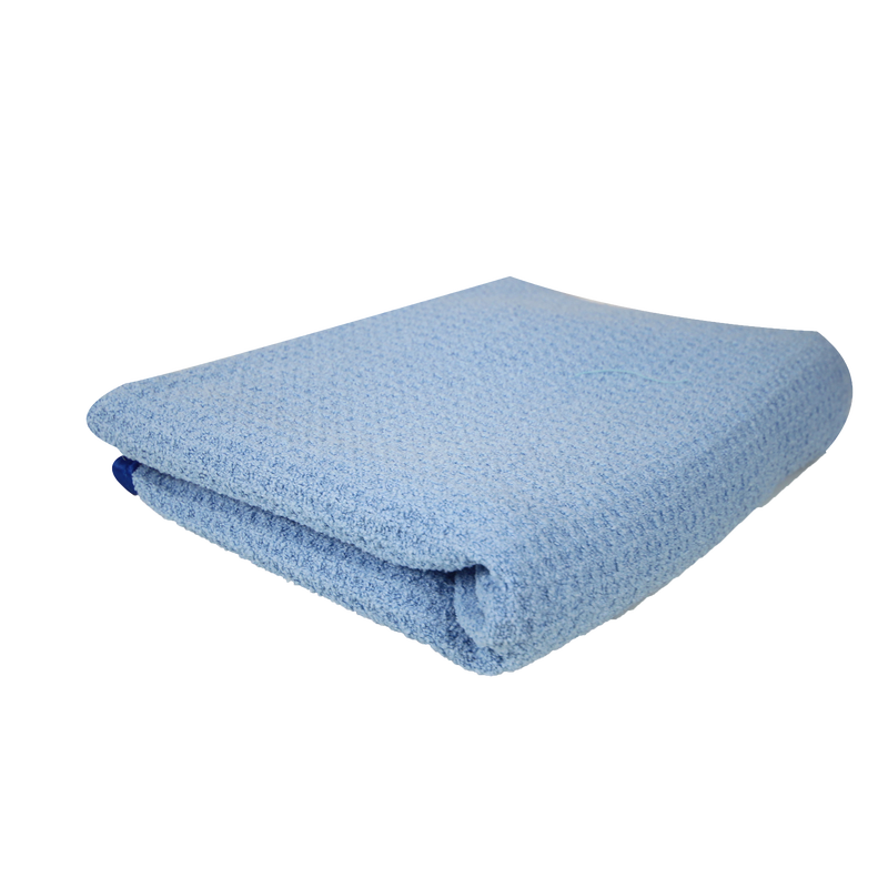 Waffle Weave Drying Microfiber Towel Blue