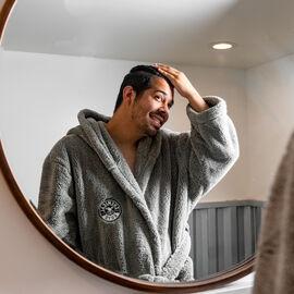 Woolly Mammoth Ultra Plush Hooded Microfiber Bath Robe