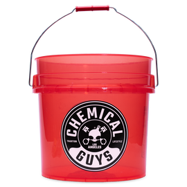 Heavy Duty Detailing Bucket, Luminous Translucent Red