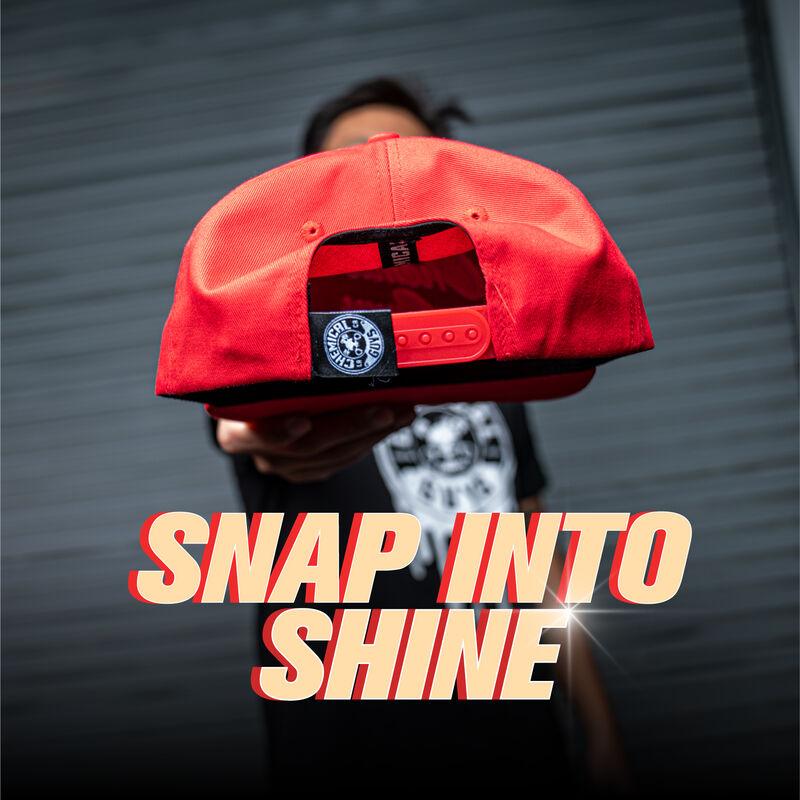 Snap-It-Back Red Script Hat