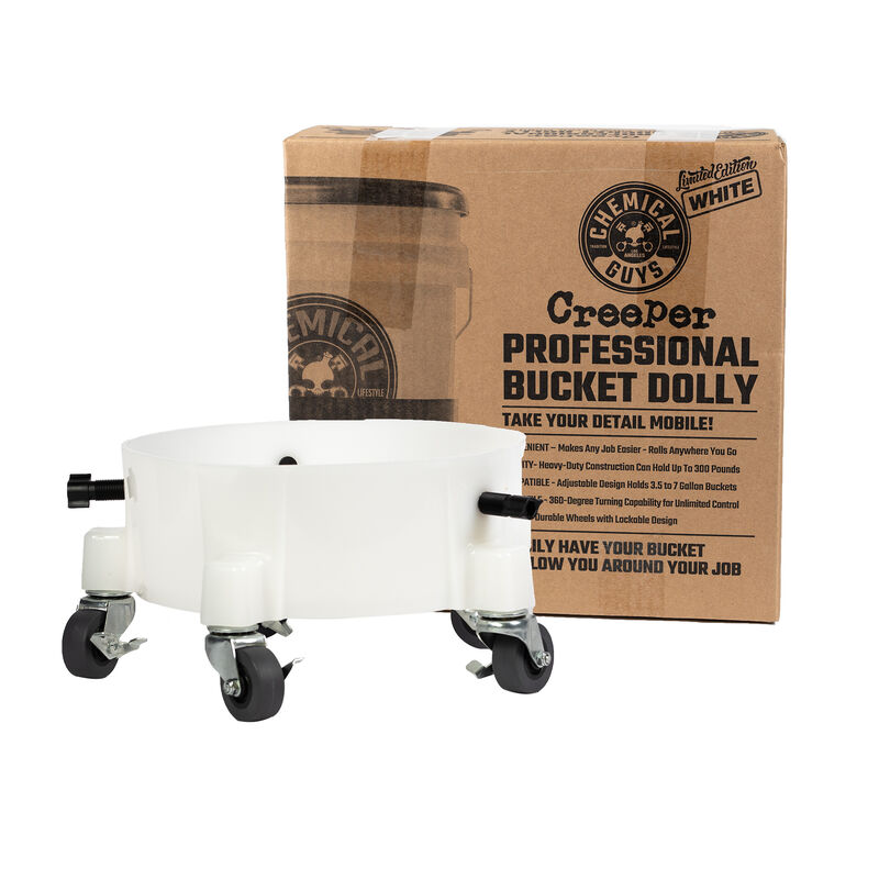 Chemical Guys Creeper Professional Bucket Dolly - White