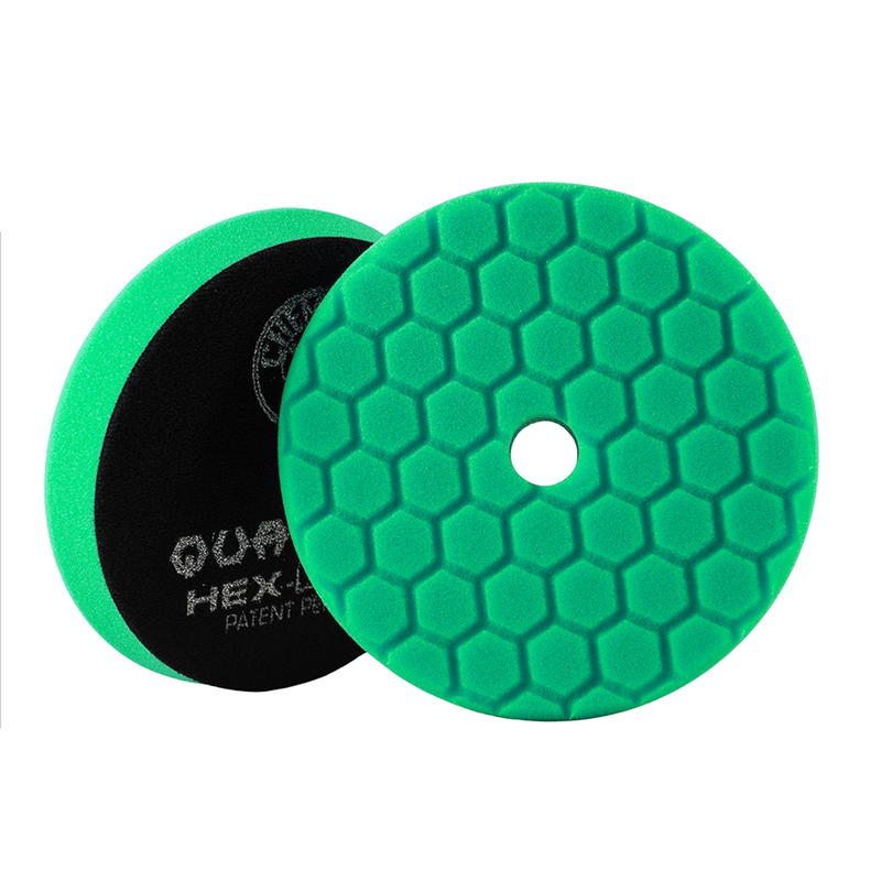 Green Hex-Logic Quantum Car Polishing Pad, 6 Inch, Used For All-In-One Product Application - Chemical Guys
