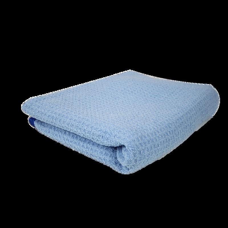 Waffle Weave Drying Microfiber Towel Blue slider image 1