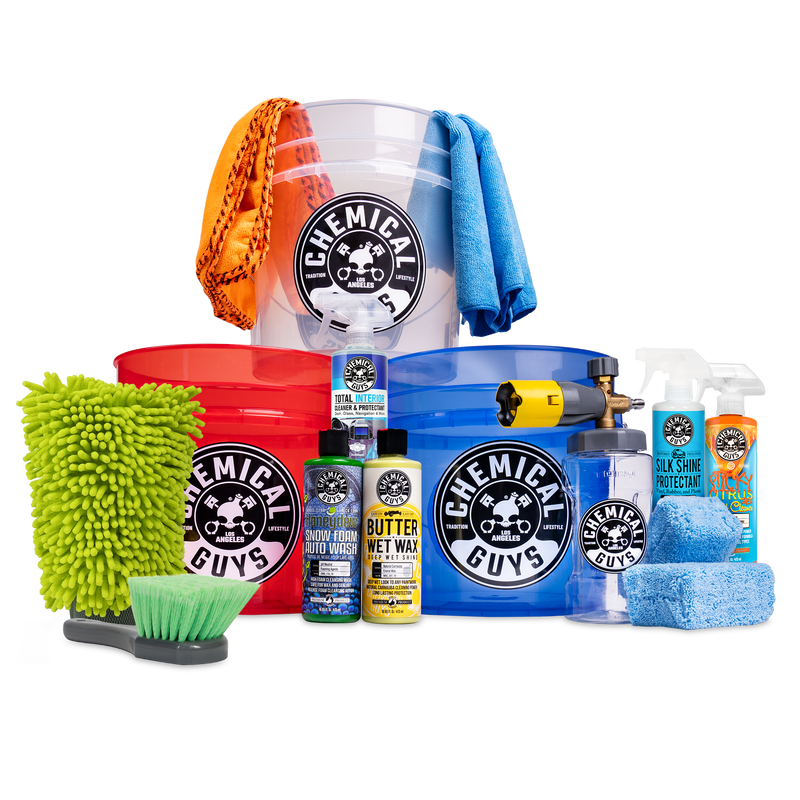 3 Bucket Foam Cannon Comprehensive Clean, Shine, & Protect Kit