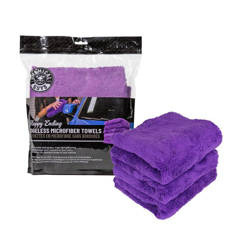"Happy Ending Edgeless Microfiber Towels, 16""x16"" (3 Pack)"