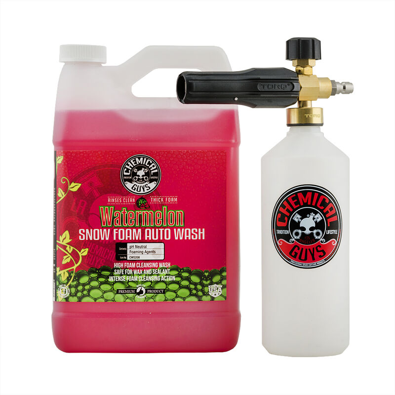 TORQ Foam Cannon Snow Foamer & Watermelon Snow Foam Auto Wash (1 Gal) Kit