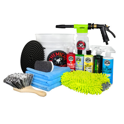 Arsenal Builder Car Wash Kit With TORQ Foam Blaster & Bucket (14 Items)