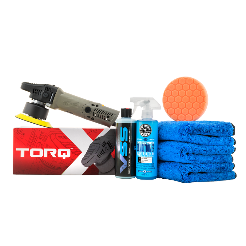 TORQX Random Orbital Polisher One-Step Scratch and Swirl Remover Kit (7 Items)