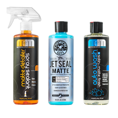 Complete Matte Kit - Wash, Spray Detailer and Sealant/Protectant, 16 oz (3 Items)