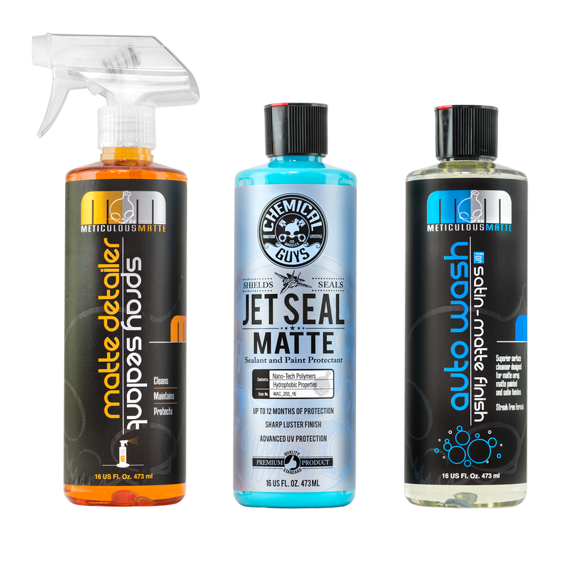 Car Spray Kit Matte: Wash, Spray Detailer And Sealant