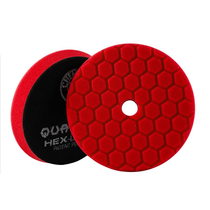 Red Hex-Logic Quantum Ultra Light Car Finishing Pad, 6 Inch - Chemical Guys